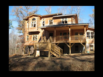 log home built in Raleigh Durham, NC